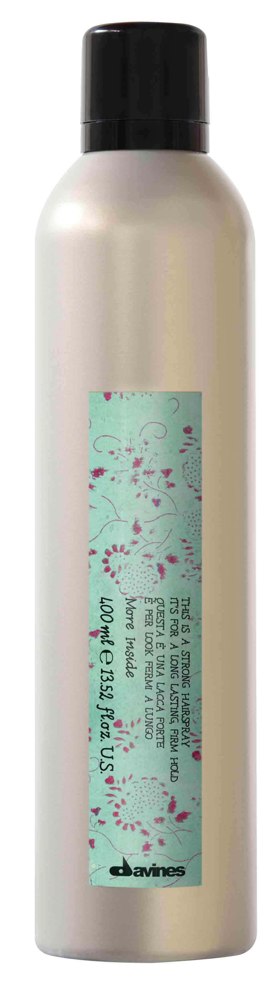 Davines (Давинес) Лак сильной фиксации для длительной стойкой укладки (Strong Hold Hair-spray), 400 мл.
