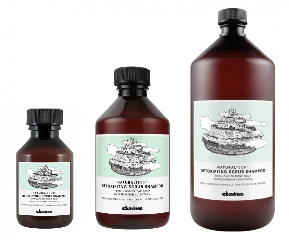 Davines (Давинес) Детоксирующий шампунь-скраб (Detoxifying scrub Shampoo), 250/1000 мл.