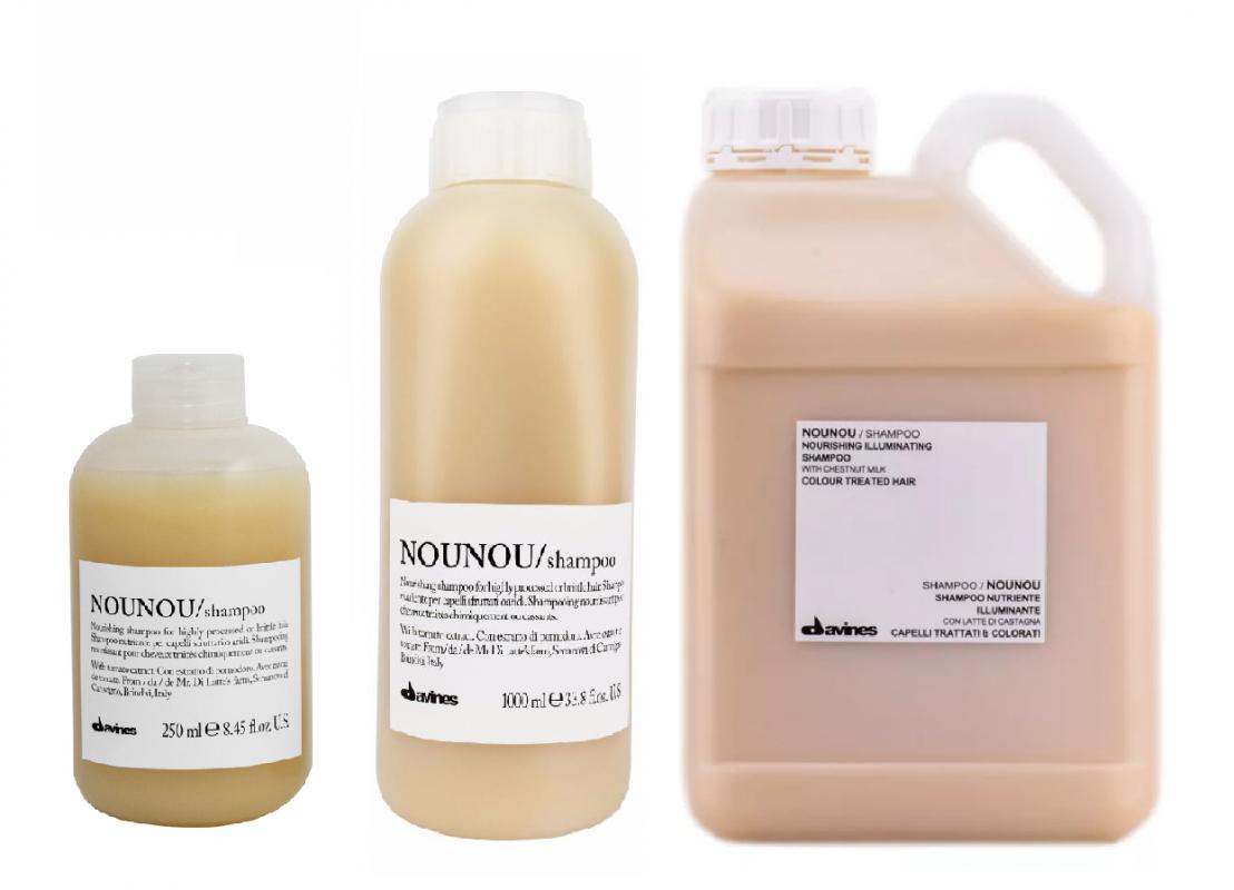 Davines (Давинес) Питательный шампунь для уплотнения волос (Nounou/shampoo), 250 мл.