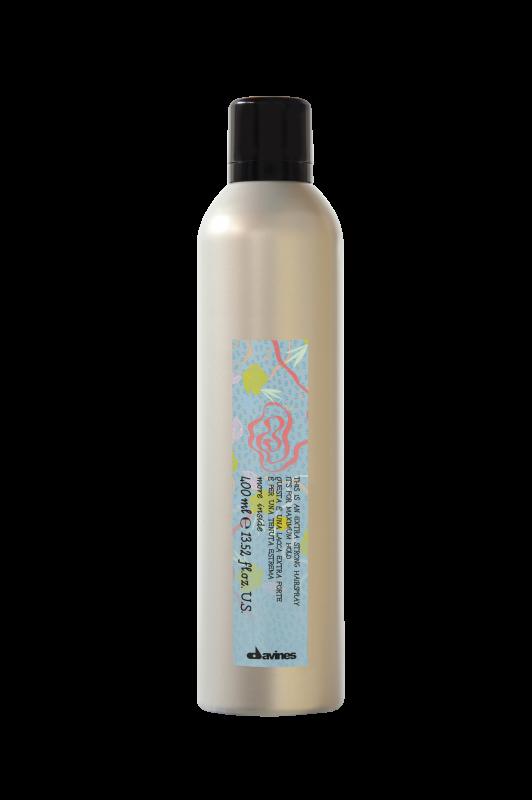 Davines (Давинес) Лак экстра сильной фиксации для экстремальной стойкости укладки (Extra Strong Hair-spray it's for maximum hold), 400 мл. 2 000 руб.